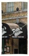 Austin Sixth Street Dueling Piano Bar Beach Towel