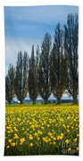 Skagit Trees Beach Towel by Inge Johnsson