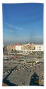 Skanderberg Square In Tirana Albania Beach Towel