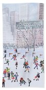 Skating Rink Central Park New York Beach Towel