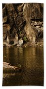 Skc 2964 The Rustic Rocks And Ripply Waters Beach Towel
