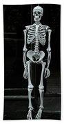 Skeleton New York City Beach Towel