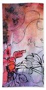 Sketchflowers - Calendula Beach Towel