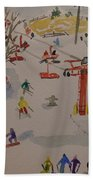 Ski Area Beach Towel