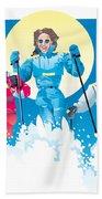Ski Fun Art Beach Towel