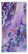 Skiyu Purple Robe Crop Beach Towel