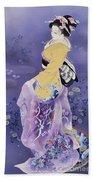 Skiyu Purple Robe Beach Towel by Haruyo Morita