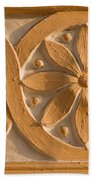 Skn 1788 The Wall Carving  Beach Towel