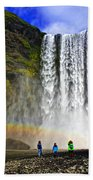 Skogarfoss Beach Towel