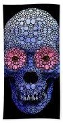 Skull Art - Day Of The Dead 1 Stone Rock'd Beach Towel