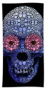 Skull Art - Day Of The Dead 1 Stone Rock'd Beach Towel