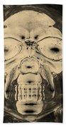 Skull In Negative Sepia Beach Towel