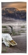 Skull In The Desert Beach Towel