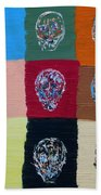 Skull Pop Nine Beach Towel