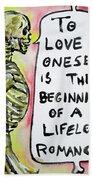 Skull Quoting Oscar Wilde.9 Beach Towel