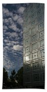 Sky And Building Beach Towel by Gary Eason