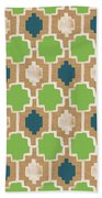 Sky And Sea Tile Pattern Beach Towel