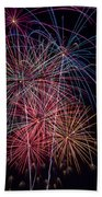 Sky Full Of Fireworks Beach Towel