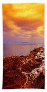 Sky On Fire Beach Towel