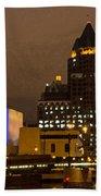 Skyline At The Milwaukee River Beach Towel