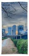 Skyline Of A Big City In South - Charlotte Nc Beach Towel