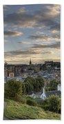 Skyline Of Edinburgh Scotland Beach Towel