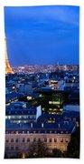 Skyline Of Paris Beach Towel