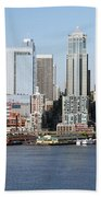 Skyline Of Seattle Beach Towel