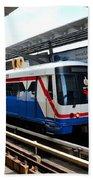 Skytrain Carriage Metro Railway At Nana Station Bangkok Thailand Beach Towel