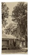 Slave Quarters Sepia Beach Towel