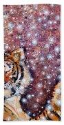 Sleeping Tigers Dream Such Sweet Dreams Kitties In Heaven Beach Towel