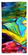 Sleeping Woman Beach Towel