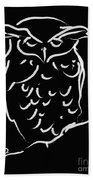 Sleepy Owl Beach Towel