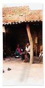 Slice Of Life Mud Oven Chulha Tandoor Indian Village Rajasthani 1b Beach Towel