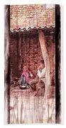 Slice Of Life Mud Oven Chulha Tandoor Indian Village Rajasthani 1c Beach Towel