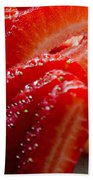 Sliced Strawberries Beach Towel