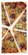 Sliced Tortilla Pizza Beach Towel
