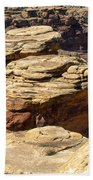 Slickrock Canyon Formations Beach Towel
