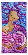 Sling Dance Motherhood Babywearing Dance Artwork Beach Towel