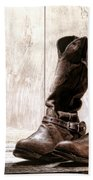 Slouch Cowboy Boots Beach Towel