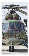 Slovakian Mi-17 With Digital Camouflage Beach Towel