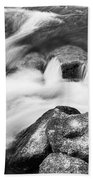 Slow Flow Black And White Beach Towel