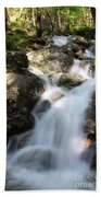 Slow Shutter Waterfall Scotland Beach Towel