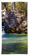 Sluice Gate At Alley Spring Beach Towel