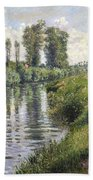 Small Branch Of The Seine At Argenteuil Beach Towel