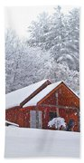 Small Cabin In The Snow Beach Towel