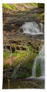 Small Falls At Parfrey's Glen Beach Sheet