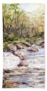 Small Falls In The Forest Beach Towel