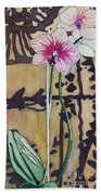 Small Orchids Beach Towel