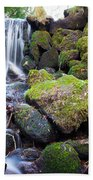 Small Waterfall In Marlay Park Dublin Beach Towel